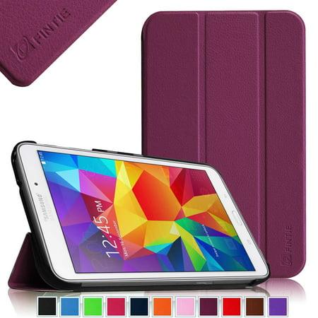 - fintie samsung galaxy tab 4 7.0 case - ultra slim lightweight smart shell standing cover, purple