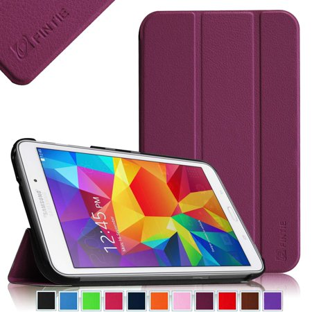 fintie slim shell case for samsung galaxy tab 4 7.0 - ultra lightweight protective stand cover for samsung tab 4 7.0(7-inch) tablet, purple (Samsung Galaxy Tab 4 Telefono)