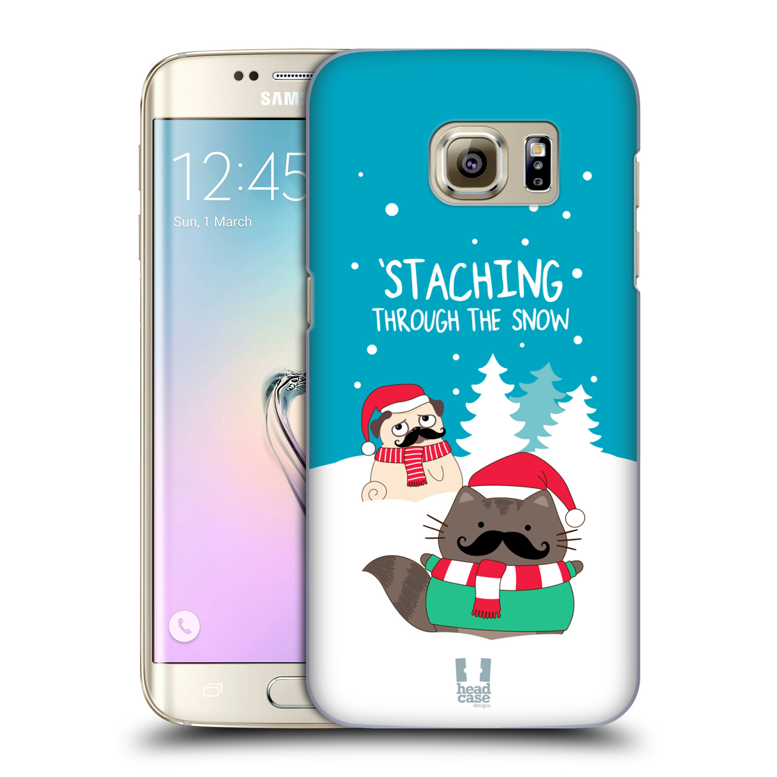 HEAD CASE DESIGNS WILBUR THE CAT ALL-STAR CHRISTMAS HARD BACK CASE FOR SAMSUNG PHONES 1