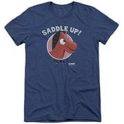 Gumby Saddle Up Mens Tri-Blend Short Sleeve Shirt