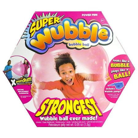 Super Wubble Bubble Ball with pump - Pink