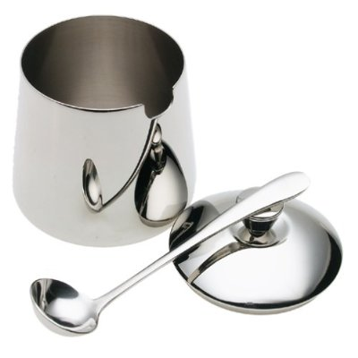 Frieling Stainless Steel Sugar Bowl with Lid and Spoon