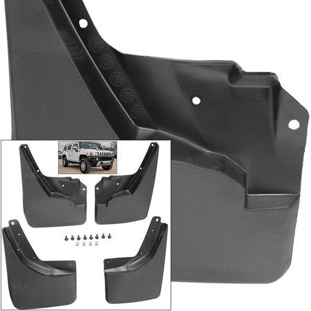 - Front Rear Mud Flaps Splash Guards 2006-2010 Hummer H3 Mudguards
