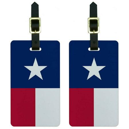 Texas Flag Luggage Tags Suitcase Carry-On ID, Set of (Flag Luggage Tag)
