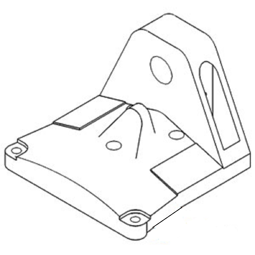 531263R1 New Case-IH Tractor Lower Bolster Casting 1066