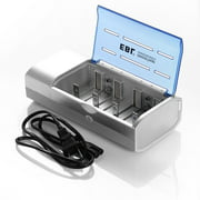 EBL 6F22 Battery Charger for AA AAA C D Size 9V Ni-MH Ni-CD Rechargeable Batteries