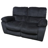 Corvallis Transitional Dual Reclining Loveseat - Steel Blue