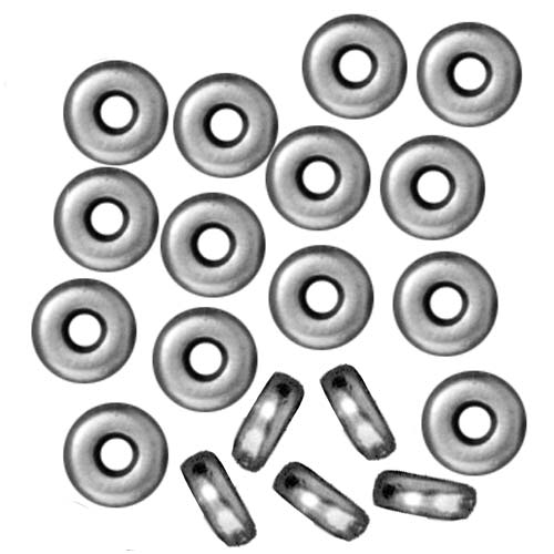 Rhodium Plated Lead-Free Pewter Disk Heishi Spacer Beads 4mm (50)