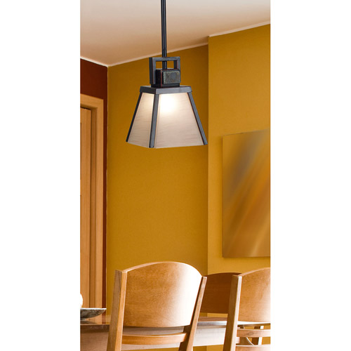Kenroy Home Clean Slate 1-Light Mini Pendant, Oil Rubbed Bronze with Natural Slate