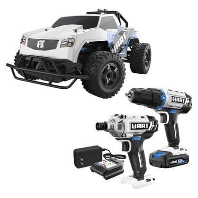 HART 20-Volt Two Tools + Truck (1) 1.5Ah Lithium-ion Battery