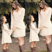 New Women Mother Daughter Matching Dresses Summer Girl Floral Dress Clothes Outfit