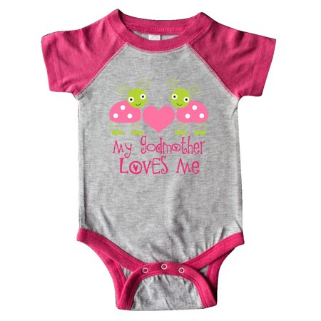 ac3a8045c Inktastic - My Godmother Loves Me Girls Ladybug Infant Creeper - Walmart.com
