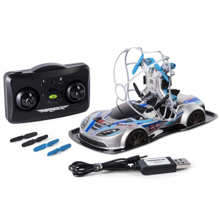 Air Hogs - 2-in-1 Drone Power Racers for Driving and Flying - Sports Car - Blue