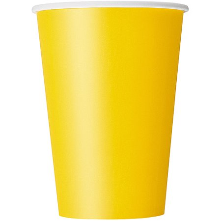 Paper Cups, 12 oz, Yellow,