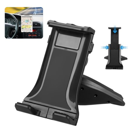 """Universal Car CD Clot Mount, Adjustable Tablet Phone Mount Holder for 7""""-12"""" Devices iPad 2/3/4/5, Samsung Galaxy Tab 3/4/A/S, Garmin GPS, Other Table Device"""