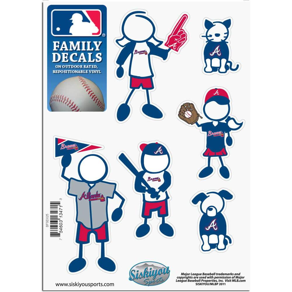 Atlanta Braves Official MLB Small Family Decal Set by Siskiyou 134715