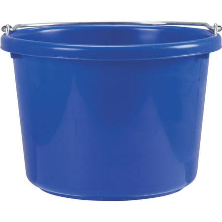 Miller Mfg. 8 Quart Blue Poly Bucket - Blue Half Bucket