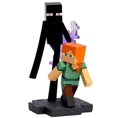 Minecraft Craftables Series 1 Alex & Enderman PVC Figure [Loose]
