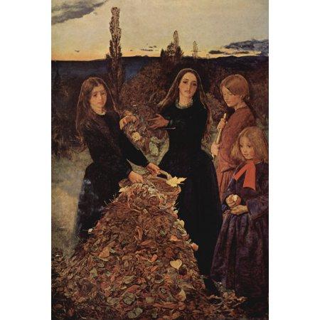 Framed Art for Your Wall Millais, Sir John Everett - autumn leaves 10 x 13 Frame
