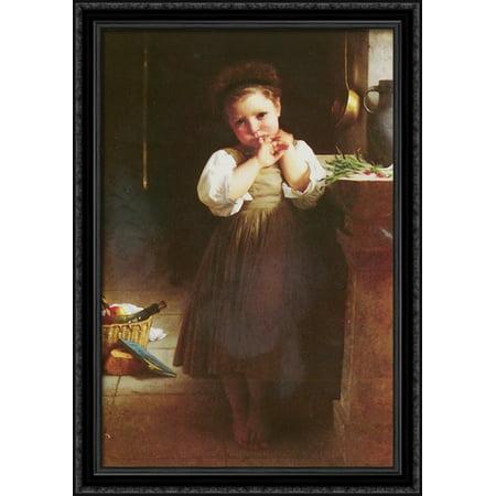 The Little Sulk 28x40 Large Black Ornate Wood Framed Canvas Art by William Adolphe Bouguereau