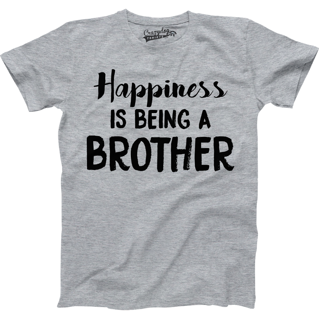 Crazy Dog TShirts - Youth Happiness Is Being a Brother FunnT Shirts for Brothers Hilarious Novelty Family T shirt