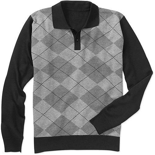 Men's Jacquard  Polo Sweater