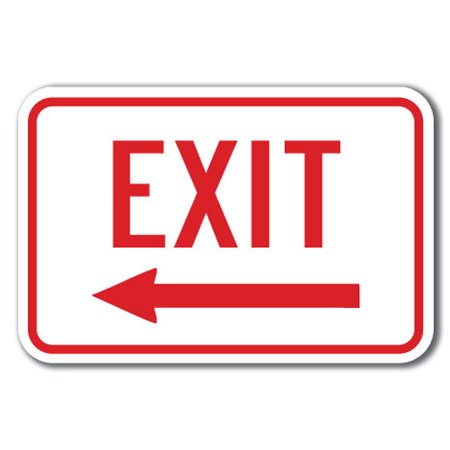 Exit with left arrow Sign 12