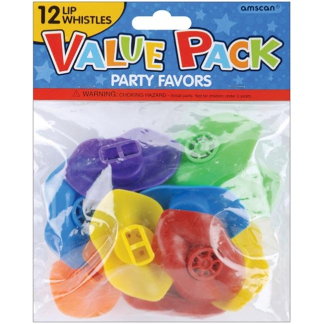 Amscan 390339 Party Favors 12/Pkg Lip Whistles