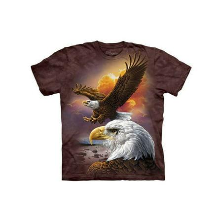 American Bald Eagle National Bird Sunset Adult T-Shirt Tee Juvenile American Bald Eagle