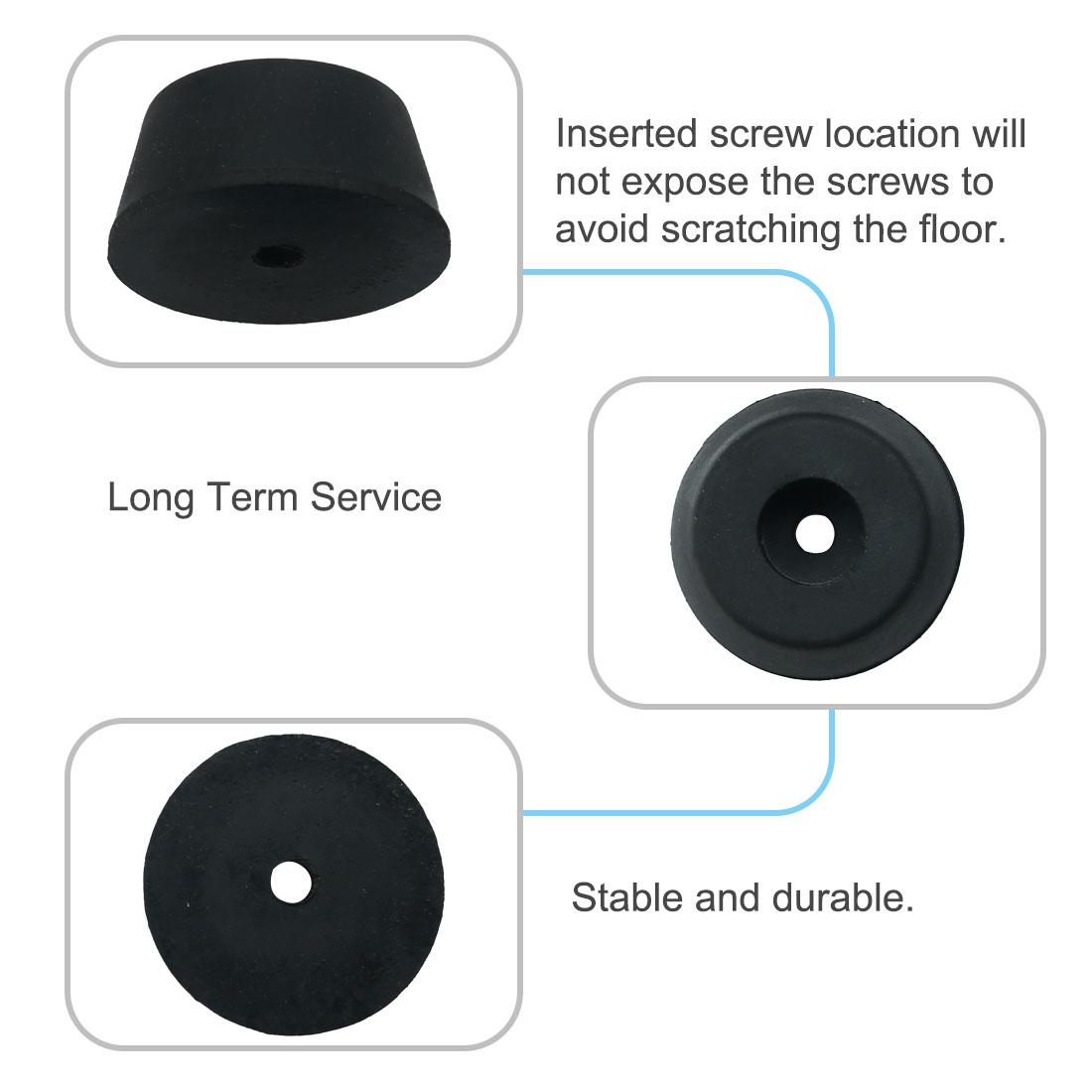 32pcs Rubber Feet Bumper Speaker Floor Protector for Desk Leg Pad, D14x12xH9mm - image 2 of 7