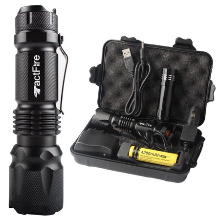 Rechargeable Torch - Zimtown 20000Lumens Zoom LED Flashlight Torch Rechargeable 18650 Lamp w/ Battery+Charger