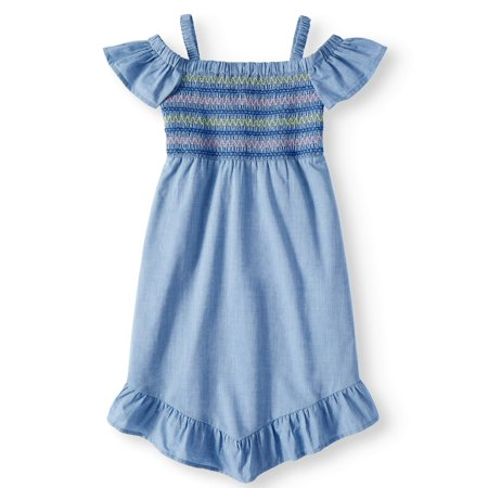 Smocked Chambray Dress (Little Girls, Big Girls & Big Girls (Childrens Clothing Smocked Dresses)