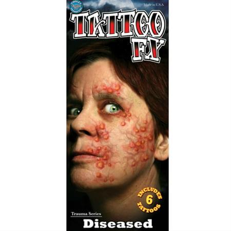 Tinsley Halloween Costume Makeup Diseased Temporary Tattoo