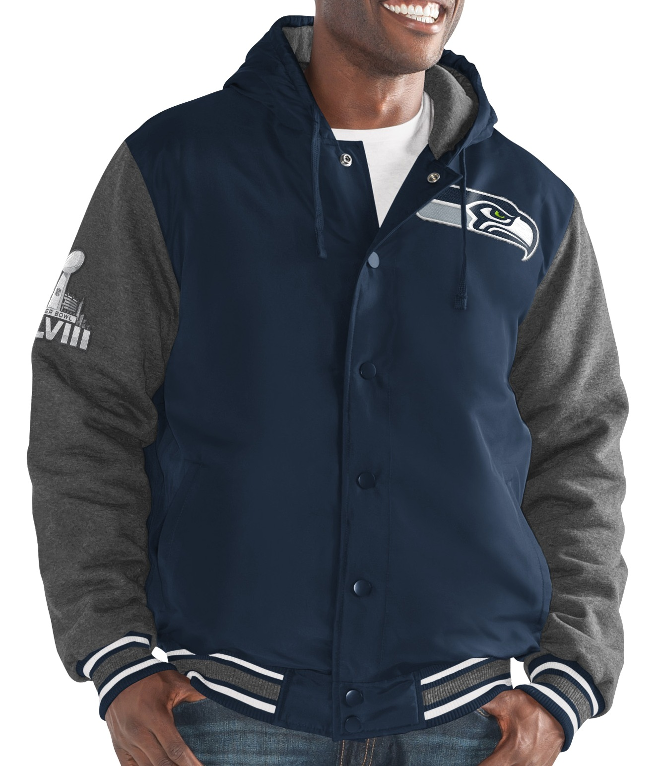 "Seattle Seahawks G-III NFL ""Top Brass"" Men's Premium Varsity Jacket by G-III Sports"