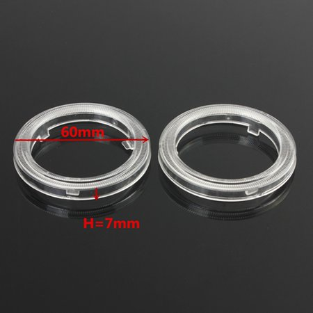 2X 60mm CCFL Halo led car light Ring Cover For Angel Eye Led Head light Clear Projector Lens For 60mm~110mm