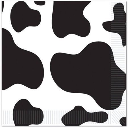 Cow Print Lunch Napkins, 16pk for $<!---->