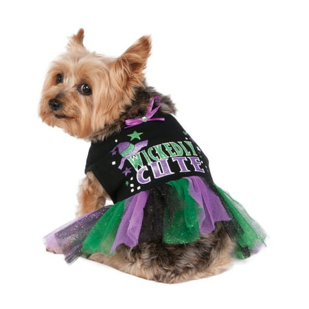 Wickedly Cute Pet Dog Cat Witch Halloween Costume Tutu Dress](Cute Dog Costume)