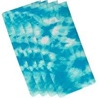 "Simply Daisy 19"" x 19"" Chillax Geometric Print Napkins, Set of 4"