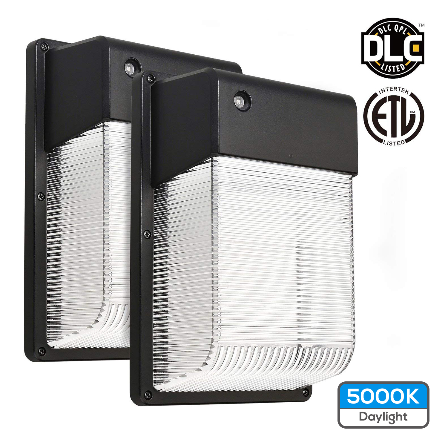 TORCHSTAR 2pcs Outdoor Wall Light, 16W Dusk-to-Dawn LED Wall Pack Light