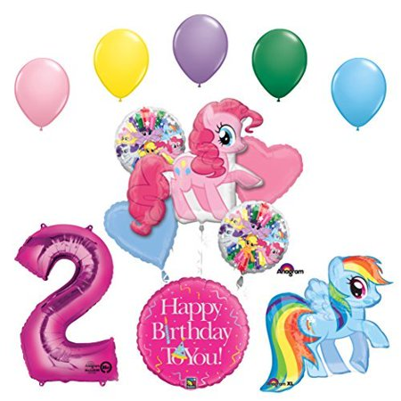 My Little Pony Pinkie Pie and Rainbow Dash 2nd Birthday Party Supplies - Pony Birthday Party