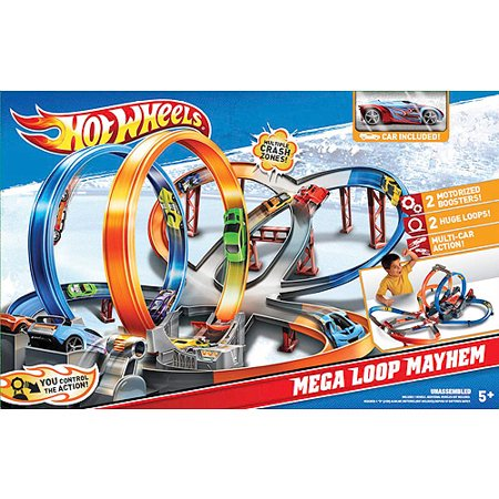Hot wheels mega loop mayhem set for Mega motors loop 12