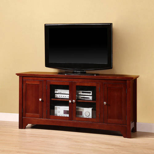 """52"""" Black Wood TV Stand for TVs up to 55"""", Muliple Colors"""
