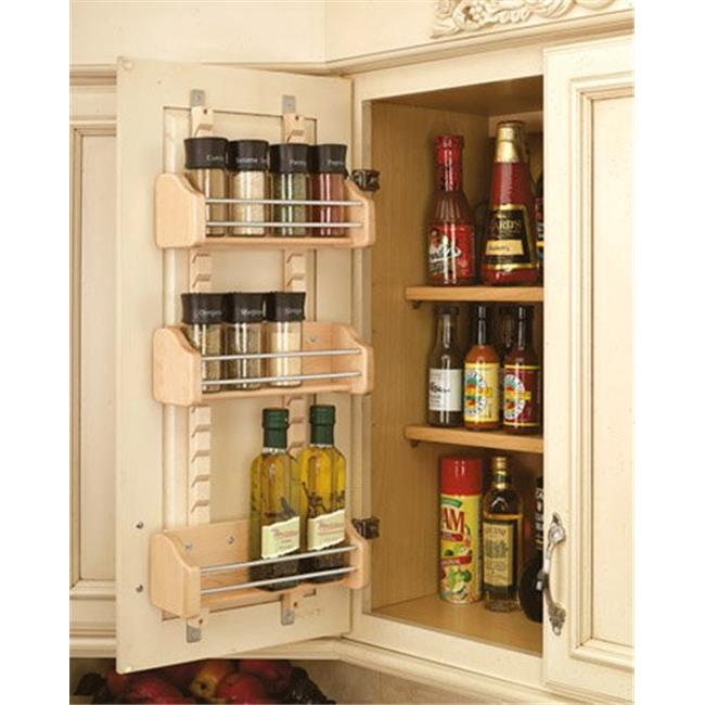 HD RS4ASR.15 Rev-A-Shelf Adjustable Door Mount Spice Rack 10.13 in. by
