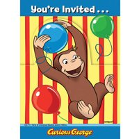 Partypro 21214 Curious George Animated Invitation