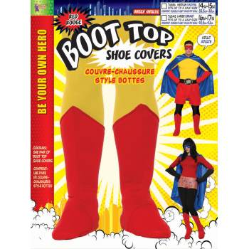 ADULT HERO BOOT TOPS - RED