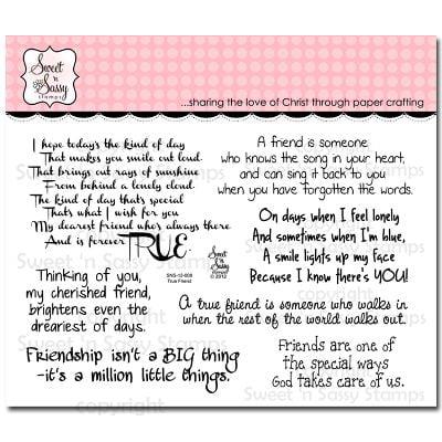 "Sweet 'n Sassy Clear Stamps 4""X6""-True Friend"