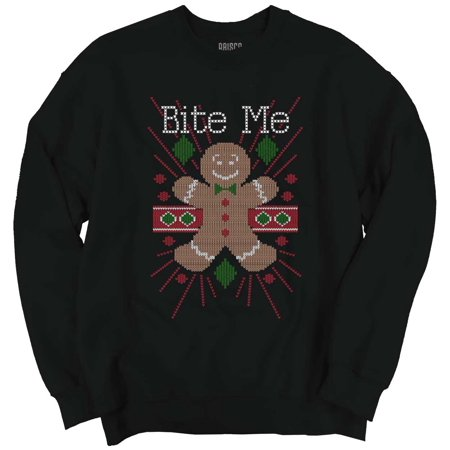 Bite Me Ugly Christmas Sweater Funny Shirts Gift Ideas Cool ...