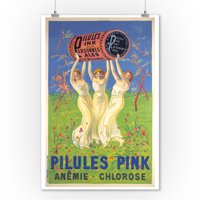 Pilules Pink Vintage Poster (artist: Cappiello, Leonetto) France c. 1910 (9x12 Art Print, Wall Decor Travel Poster)