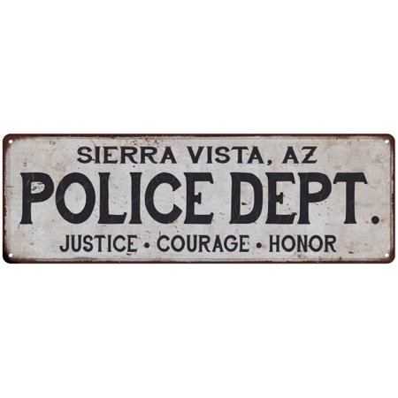 Sierra Vista  Az Police Dept  Vintage Look Metal Sign Chic Decor Retro 6183594