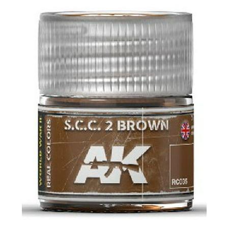 Real Colors: SCC 2 Brown Acrylic Lacquer Paint 10ml Bottle